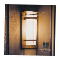 Hubbardton Forge OB-305993-LED-10-HH0034 Banded Outdoor Wall Sconce-305993 (LED/Blk/Stone) - OPEN BOX, опенбокс