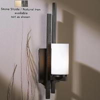 Hubbardton Forge Ondrian Wall Sconce-Left and Right No. 206301 (Stone/Natural Iron/Fluorescent/Left) - OPEN BOX RETURN OB-206301-1016 Hubbardton Forge, опенбокс